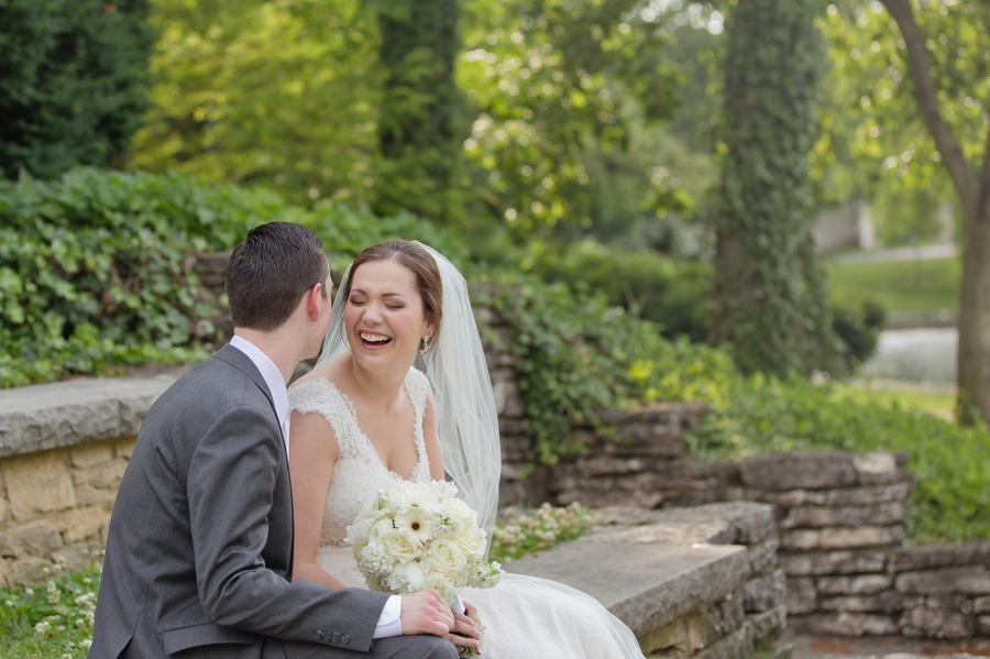 The Blackwell Columbus OH groom making bride laugh
