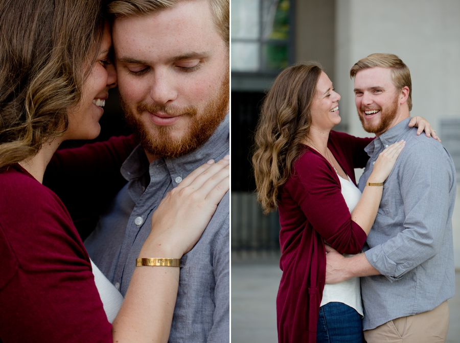 engaged couple at osu stadium