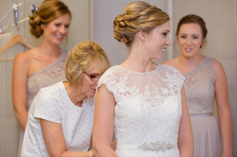bride getting ready at St. Christopher Catholic