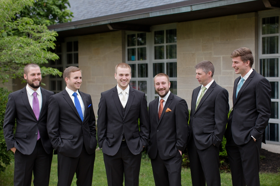 groom and groomsmen at St. Christopher Catholic