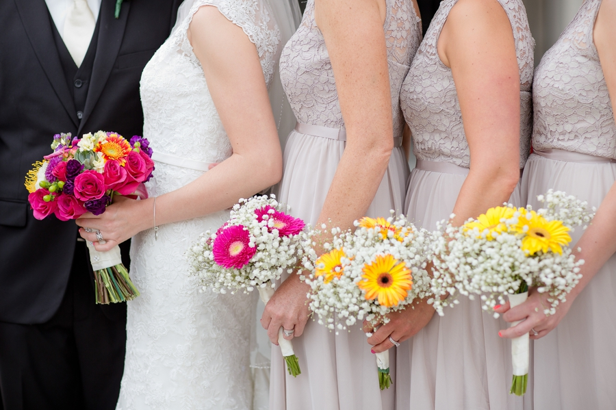 bridesmaids bouquets at The Columbus Athenaeum