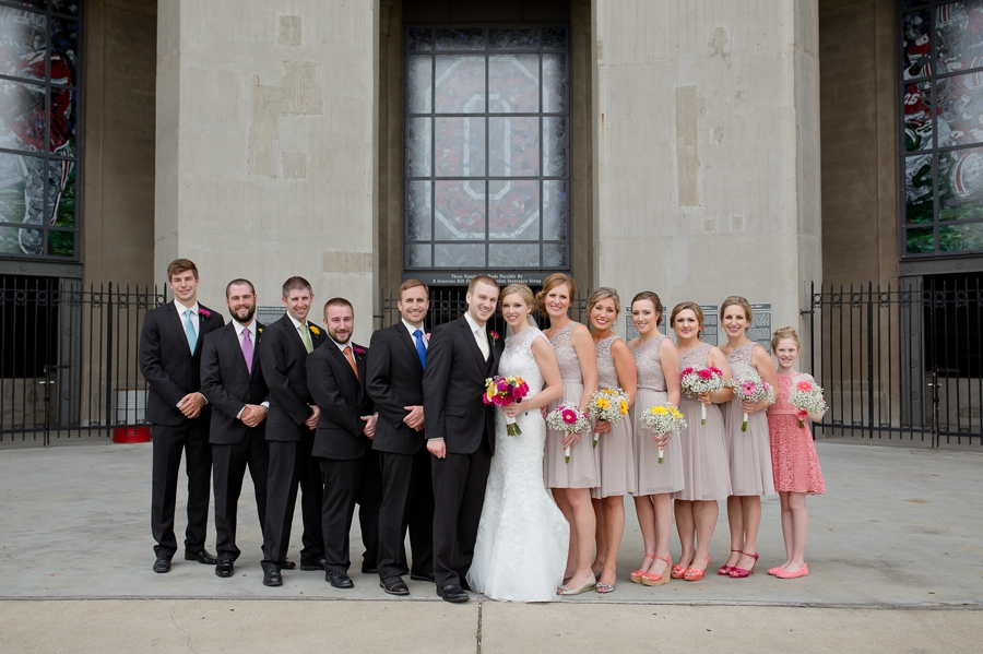 wedding party at The Columbus Athenaeum