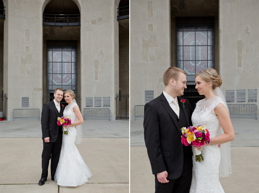 bride and groom portraits The Columbus Athenaeum