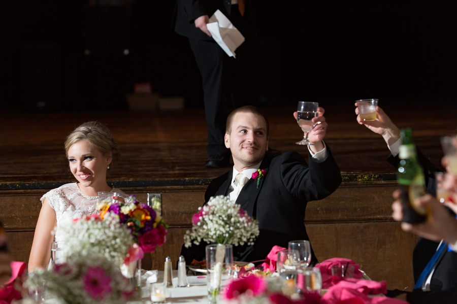 cheering a toast at The Columbus Athenaeum