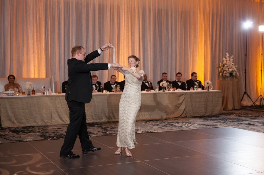 groom dancing with mother The Hilton Downtown Columbus