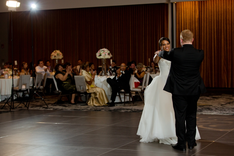 married couple dancing at The Hilton Downtown Columbus