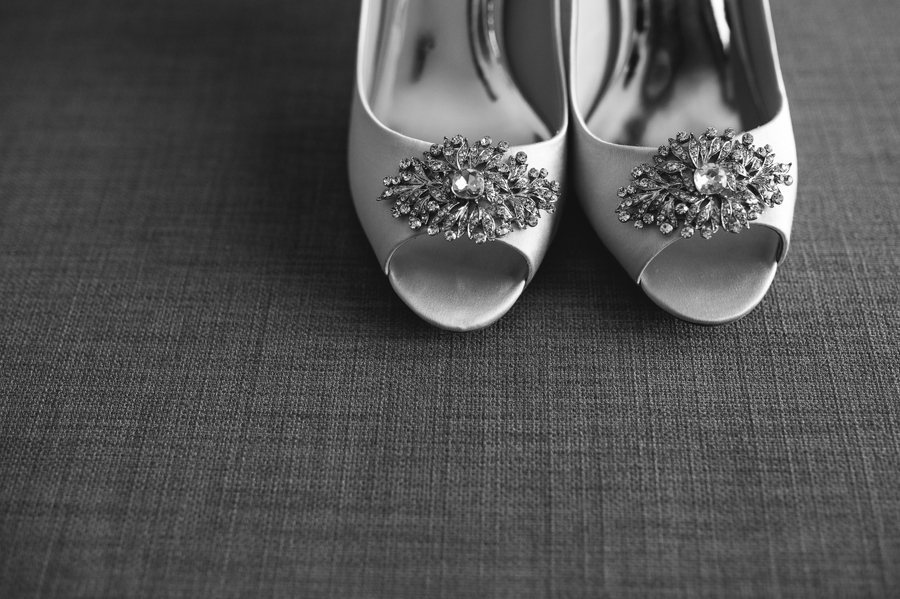 brides shoes with gemstones
