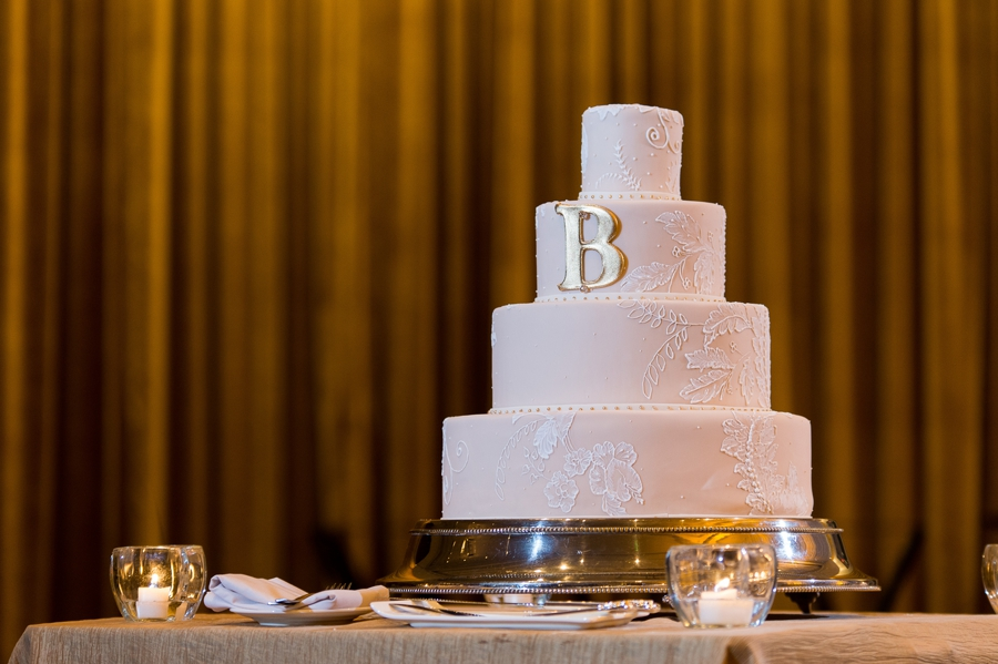 lace wedding cake at The Hilton Downtown Columbus