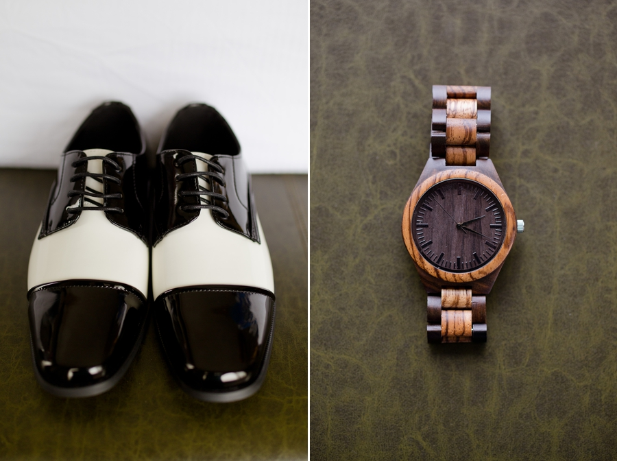 grooms shoes and watch
