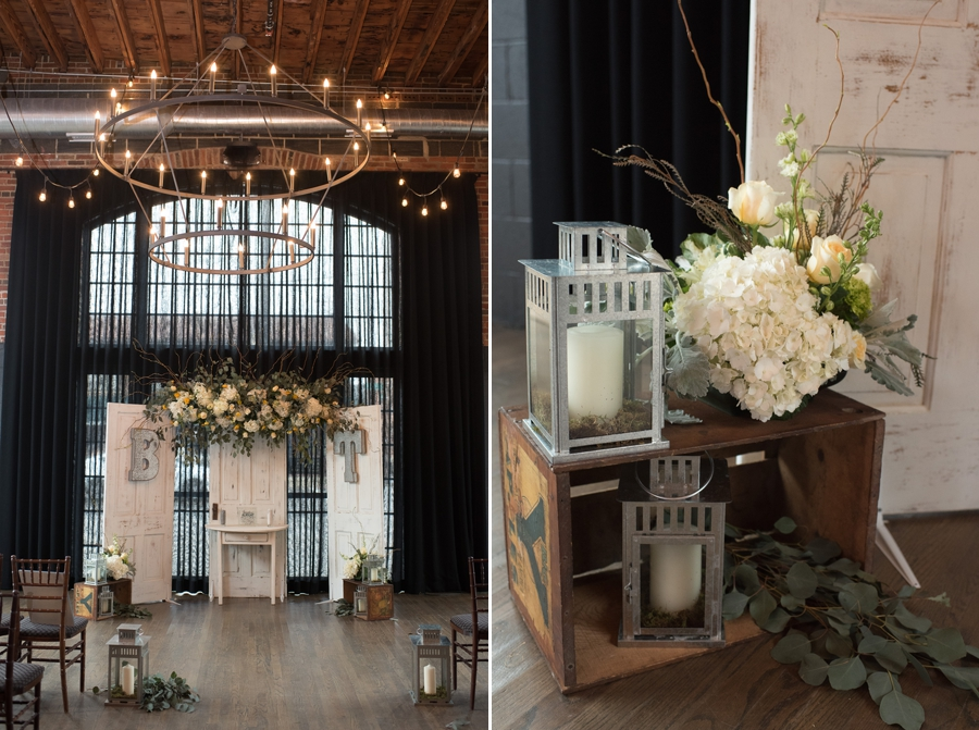 ceremony details at High Line Car House