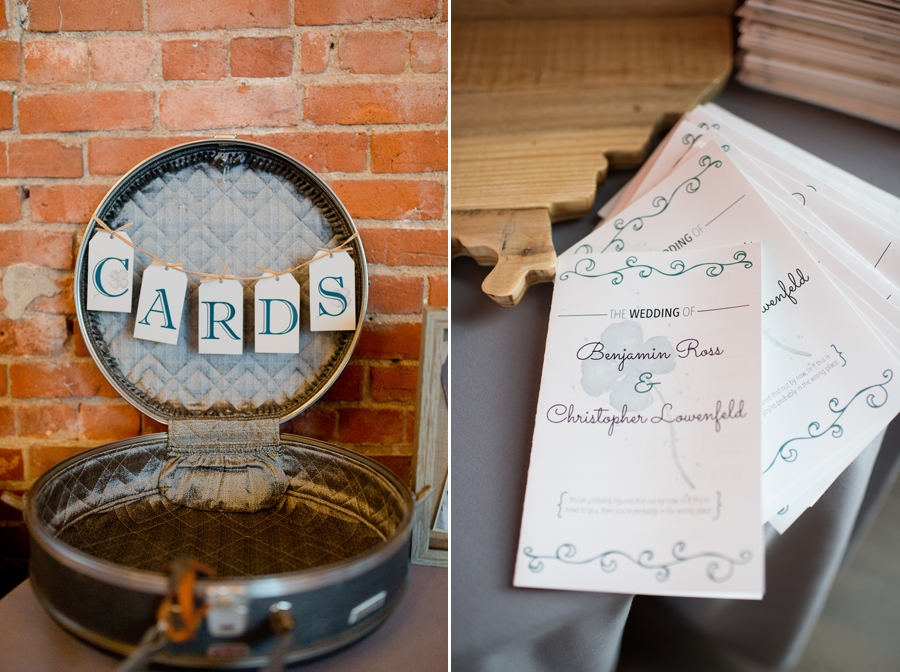 card box and ceremony programs