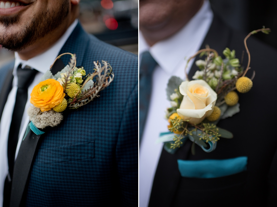 same sex couple boutonniers