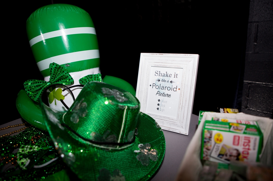 photo booth props for St. Patrick's Day wedding