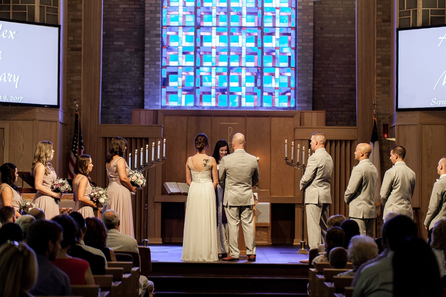 wide photo of church ceremony