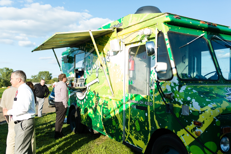 thyme food truck at wedding