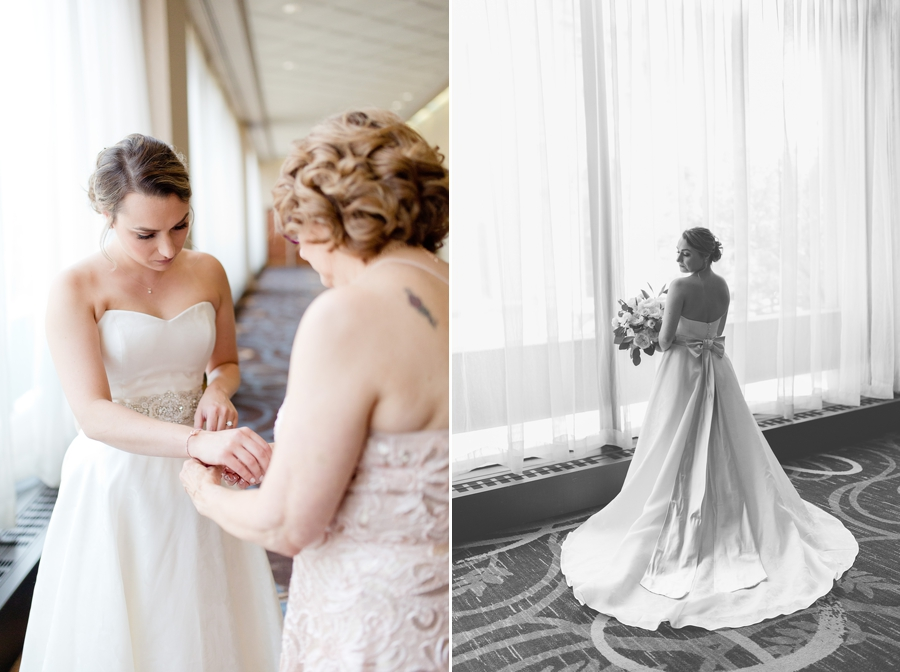 bridal portraits by window at statehouse