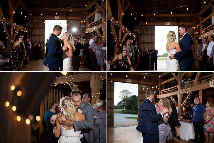 first dances of a barn wedding in ohio