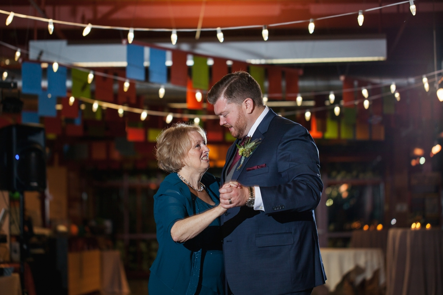 mother son dance at grange insurance audubon wedding