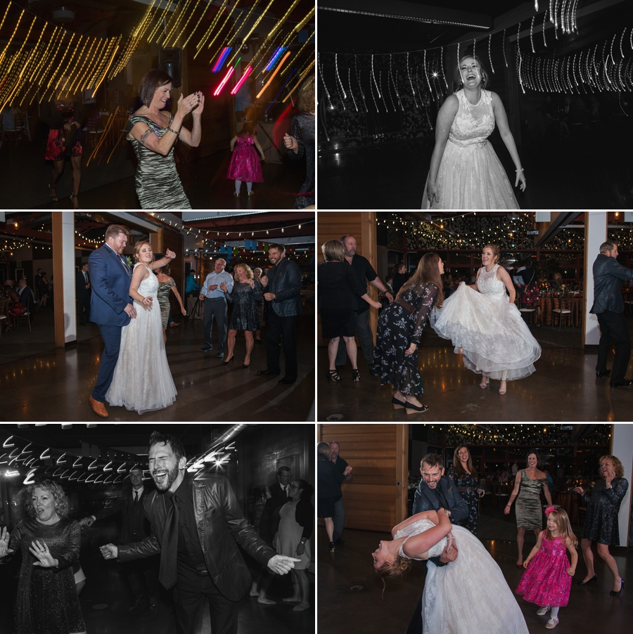 guests dancing at grange insurance audubon wedding reception