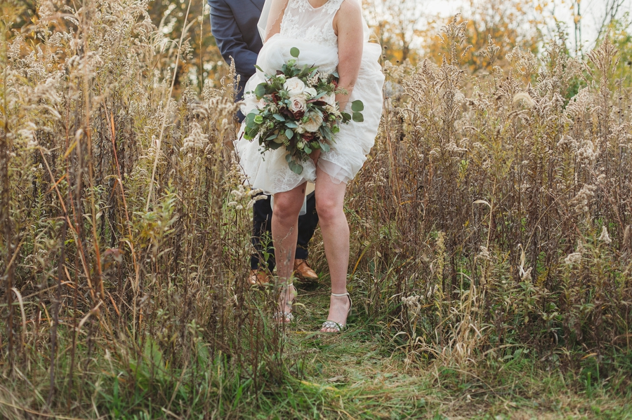 candid photo of brides legs and feet