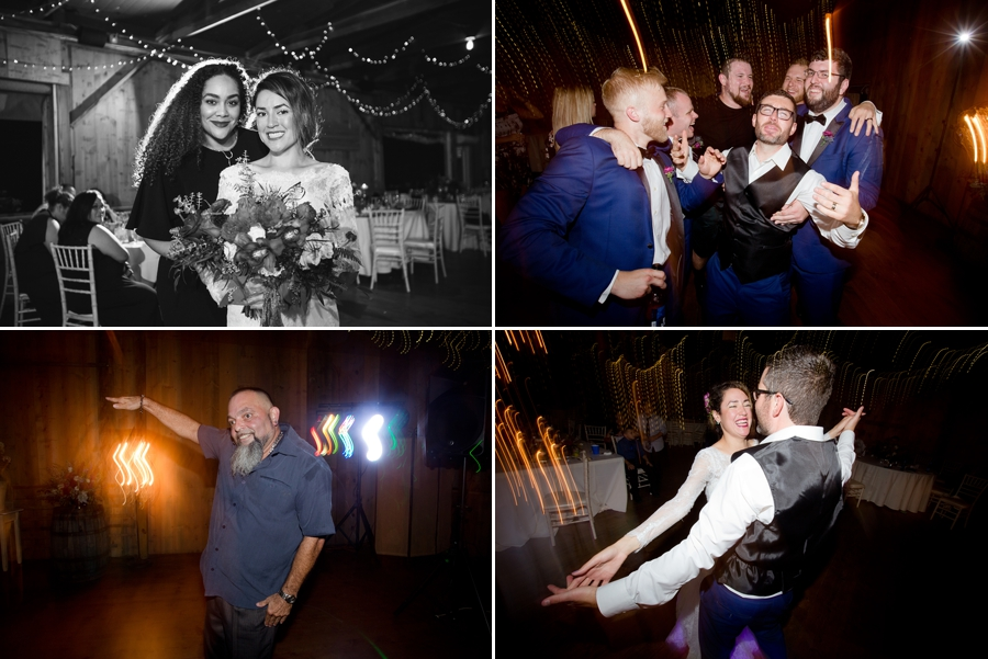 bride and groom dancing during the reception at jorgensen farm wedding