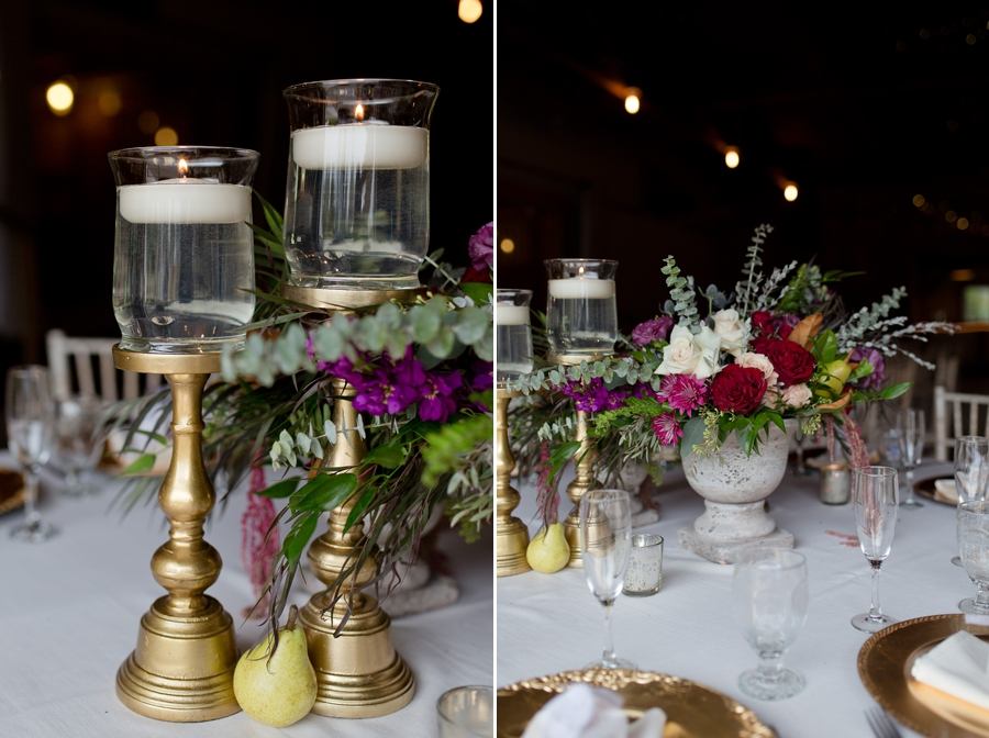 candles in water centerpieces