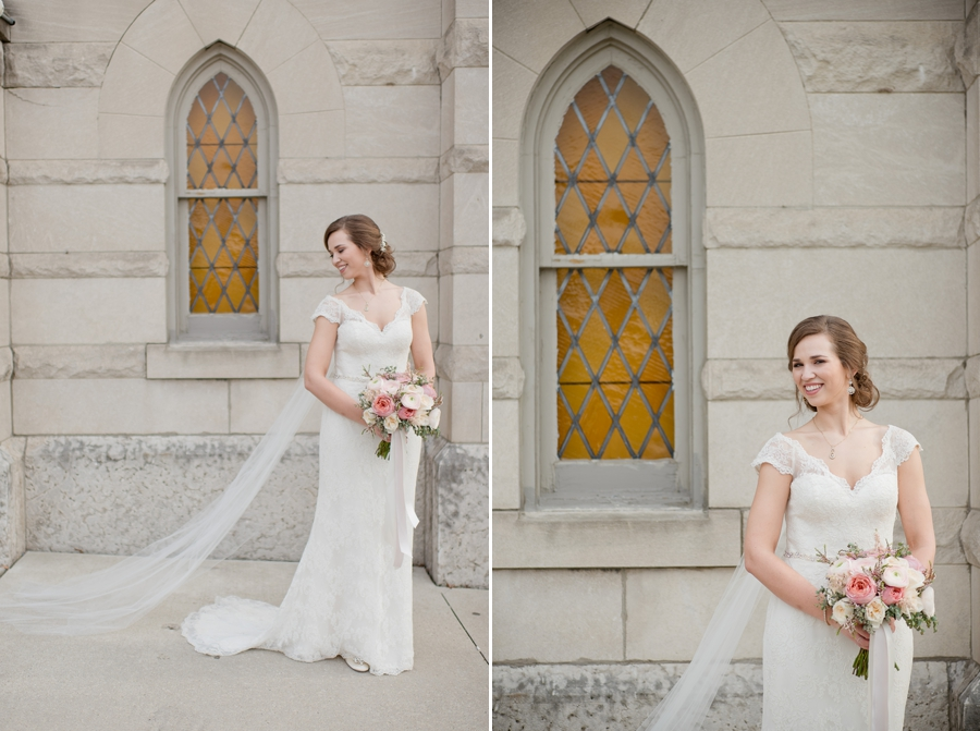 bride outside of the bluestone windows