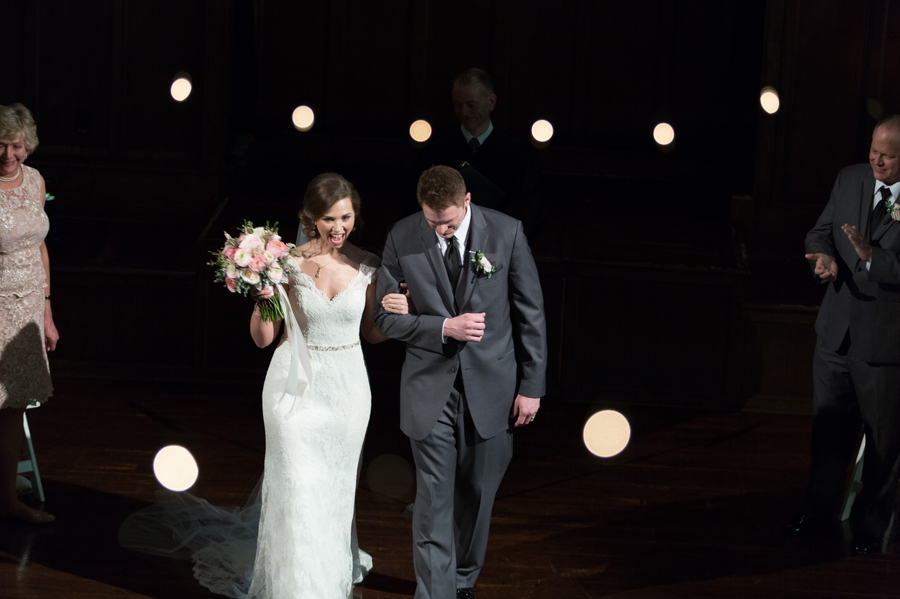 couple announced as mr and mrs at the bluestone columbus