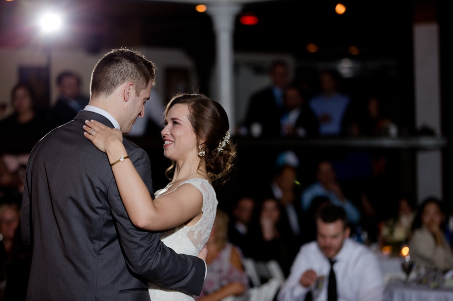 bride and groom first dance at the bluestone