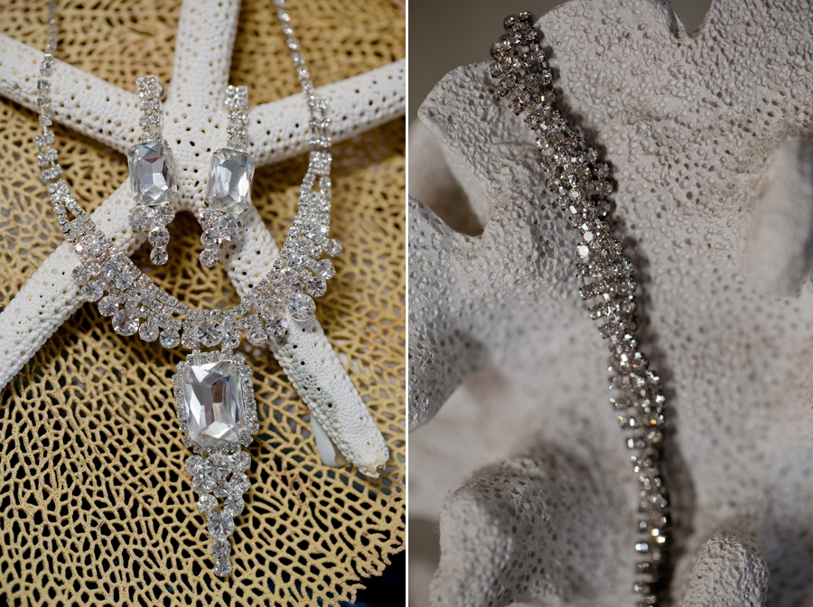 bridal jewelry on starfish
