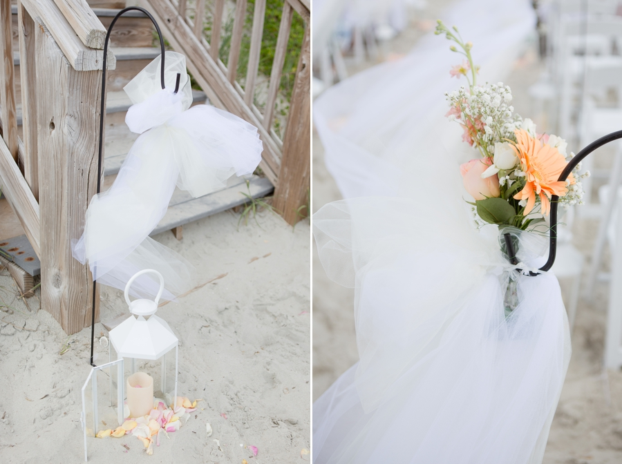 aisle decorations for beach wedding
