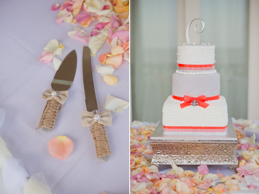 wedding cake and cutlery