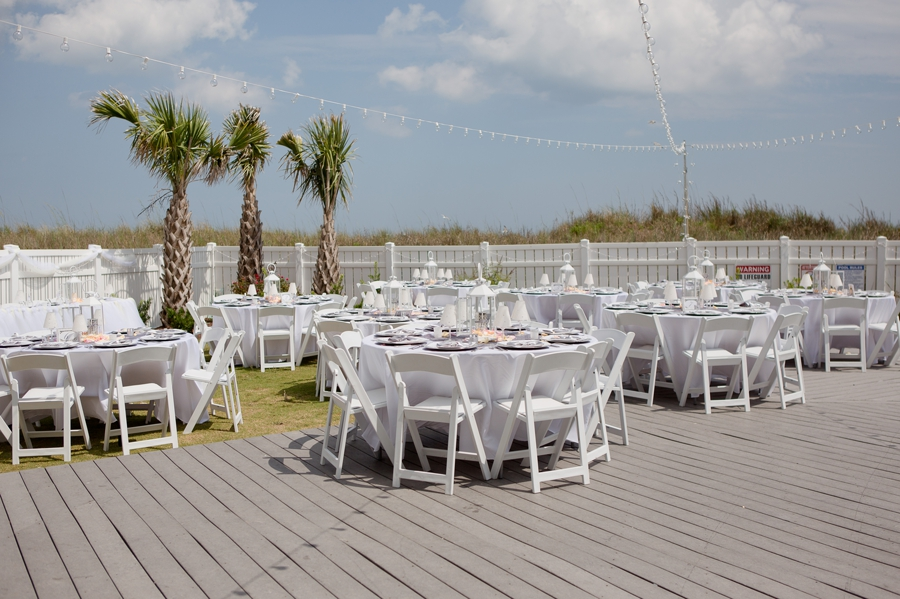 wide photo of beach wedding setup