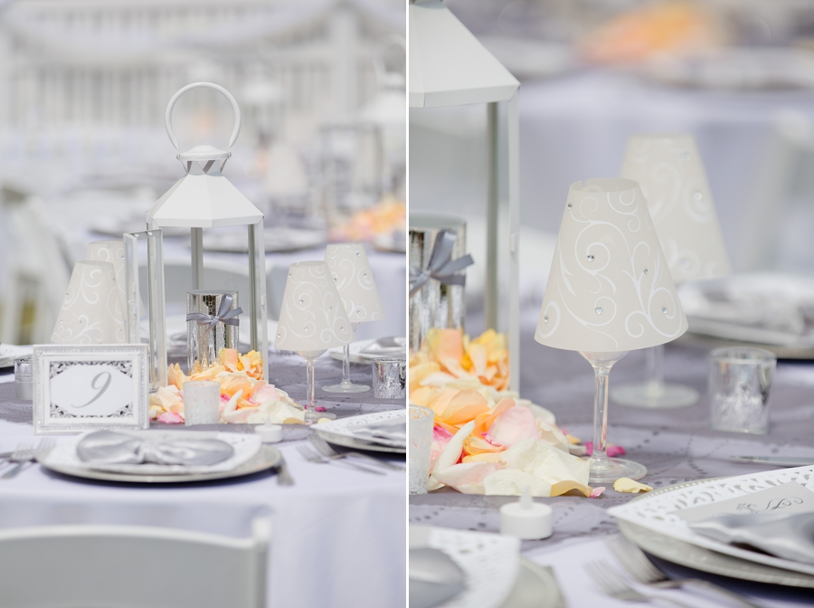 wedding centerpieces at beach wedding
