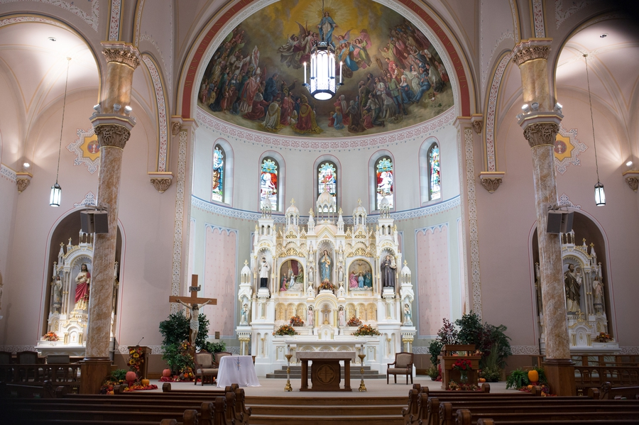 immaculate conception parish ceremont at Grand Lake wedding