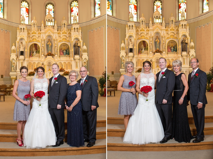 family photos at immaculate conception parish church