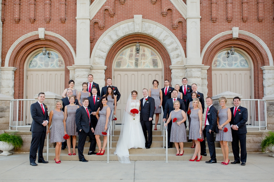 wedding party at immaculate conception parish church in celina ohio