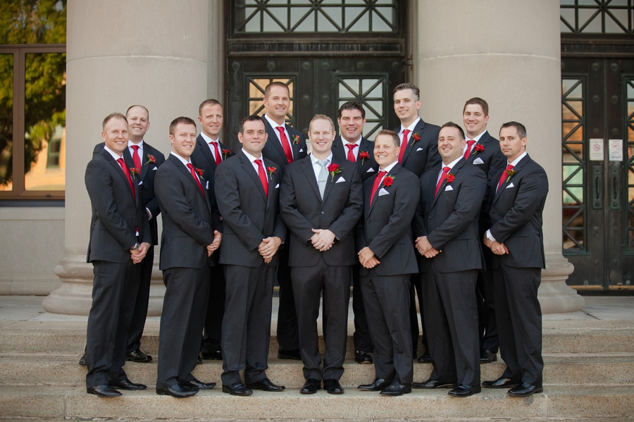 groom and groomsmen at grand lake galleria conference center