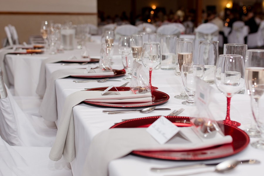 table setting at grand lake galleria conference center