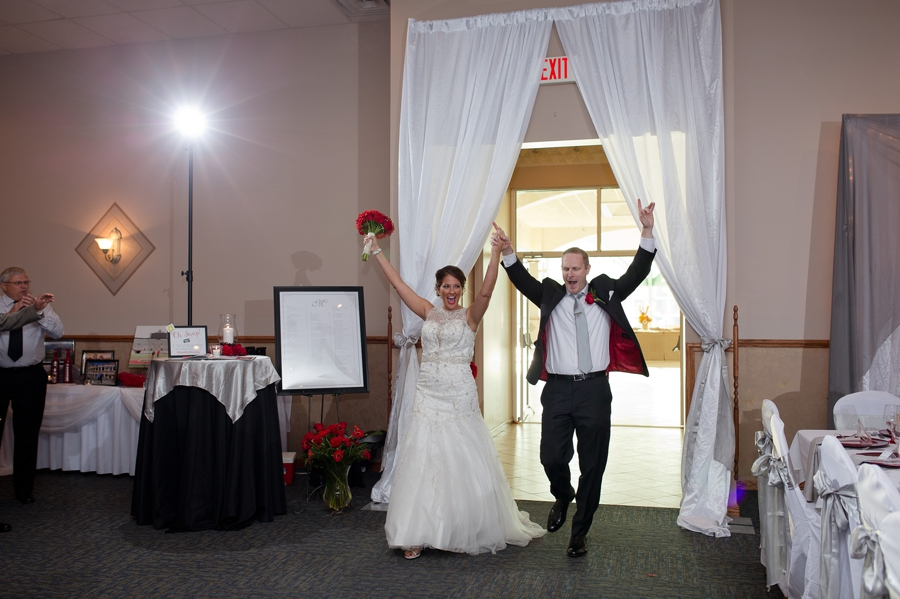 announcement of couple at wedding reception