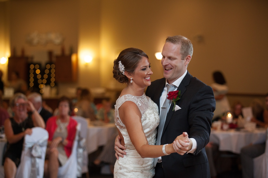 couple dancing for first time at grand lake galleria