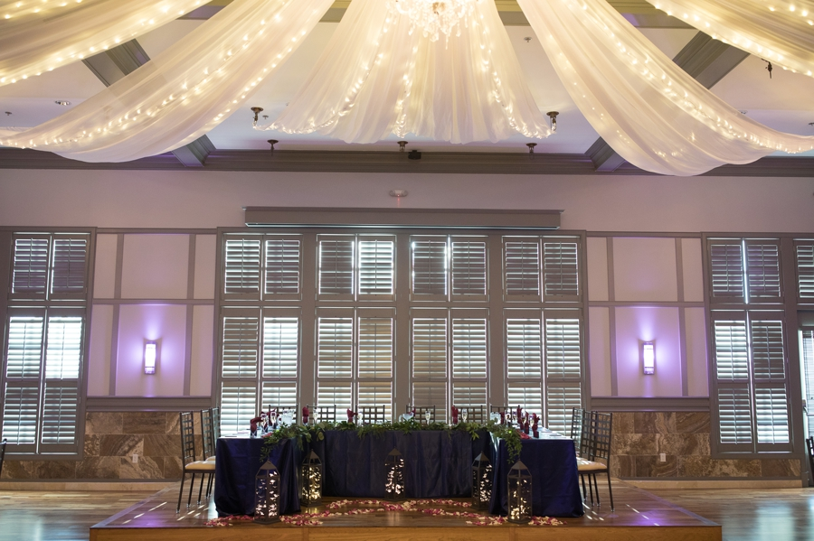 wide photo of head table at Noah's Event Venue wedding