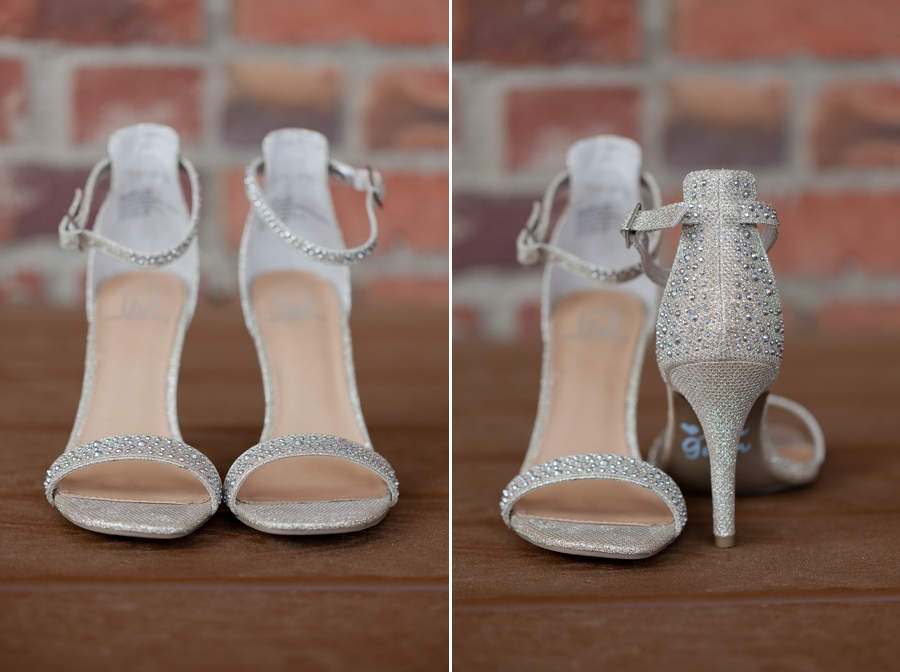 brides shoes at wedgewood