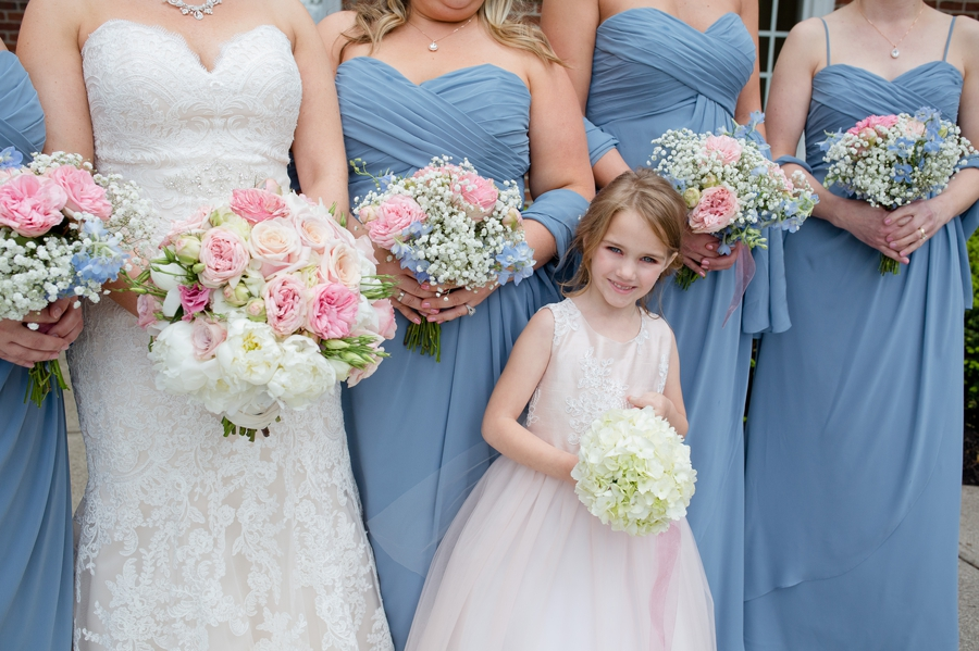close up photo of flowergirl at wedgewood