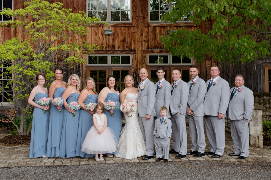 wedding party all smiling