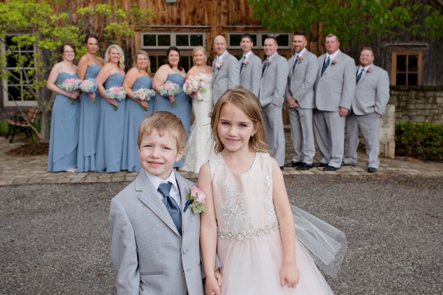 close up of flowergirl and ring bearer