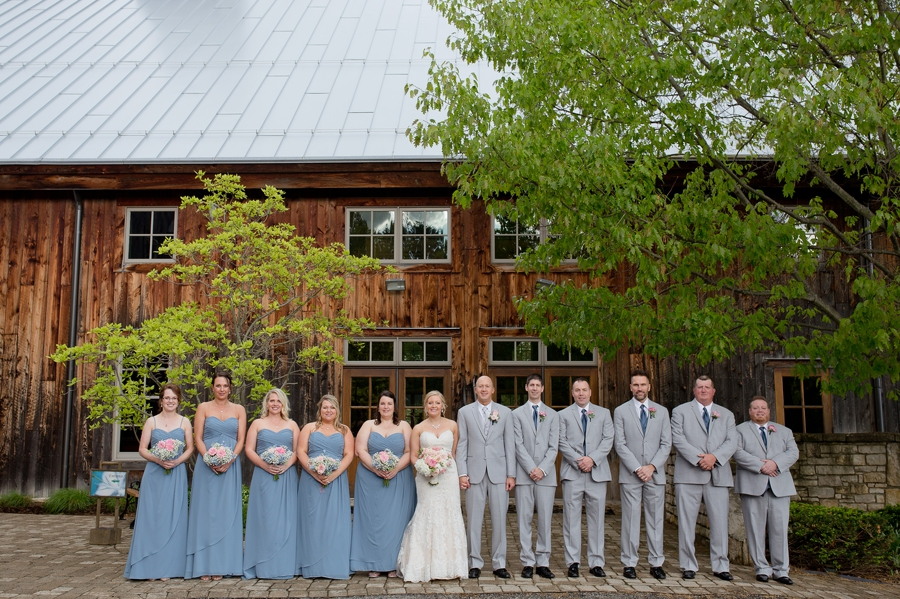 wide photo of wedding party