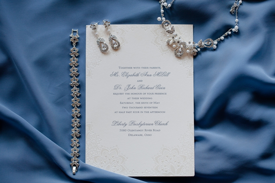 wedding invitation at wedgewood country club