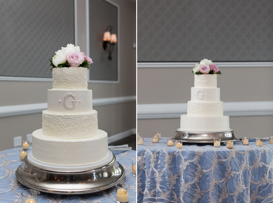 wedding cake at wedgewood golf and country club
