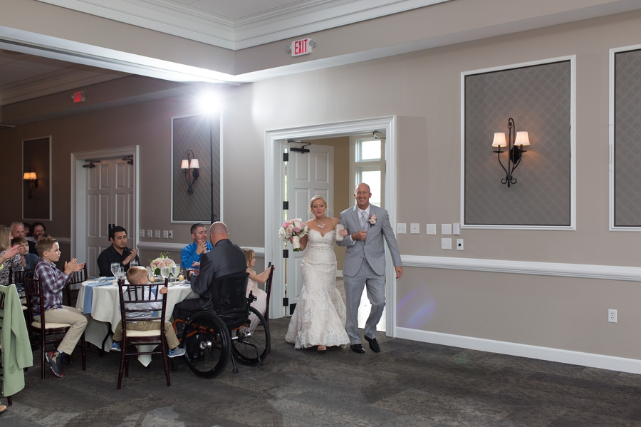 bride and groom announcement at wedgewood country club